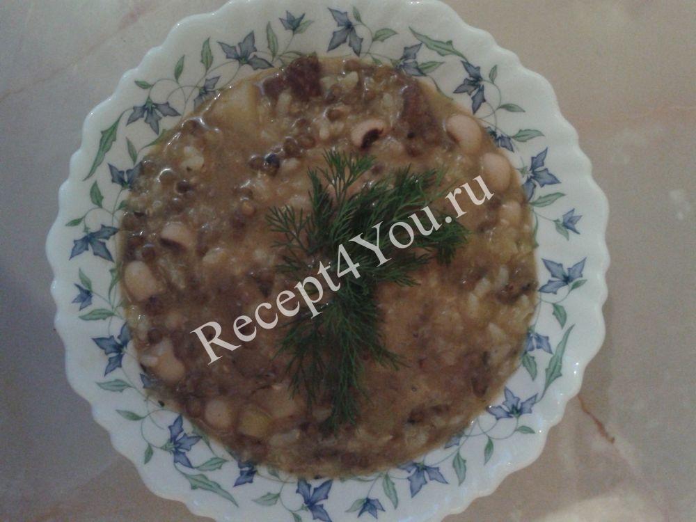 Машевая каша по-узбекски