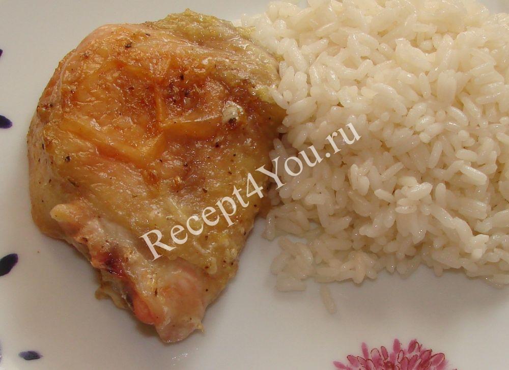 рецепт курицы в духовке с майонезом и чесноком рецепт с фото