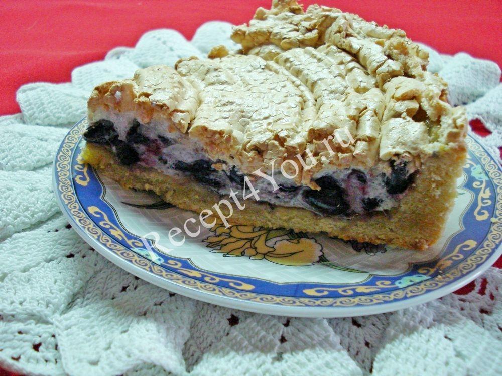 Пирог с черной смородиной