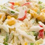 Классический рецепт салат из крабовых палочек