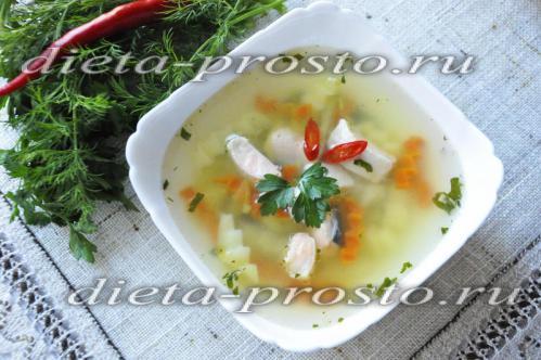 Низкокалорийный рыбный суп