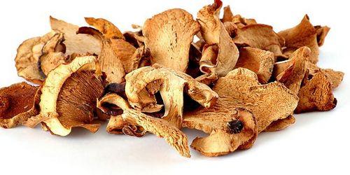 Высушить белые грибы