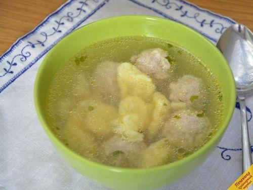 Клецки для супа из муки пошаговый рецепт