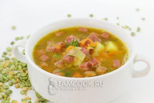 Суп с клецками и копченой колбасой рецепт