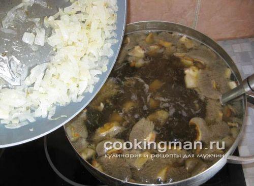Рецепт грибного супа из обабок