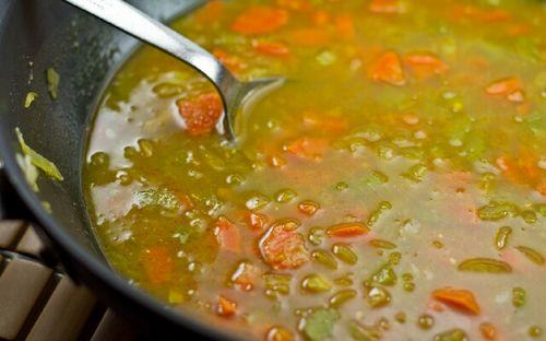 Рецепт супа с фасолью и горохом