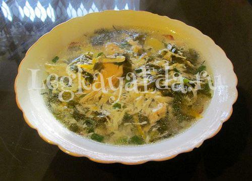 Суп щавельный с курицей рецепт 104