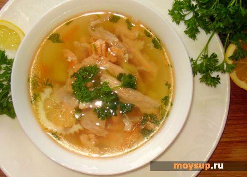 Суп рыбный из обрези красной рыбы