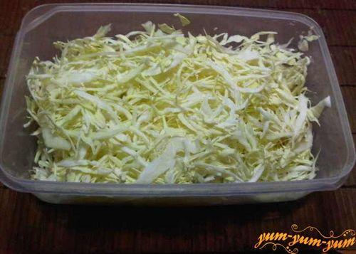 как резать капусту на суп