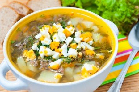 рецепт щавелевый суп с тушенкой с фото