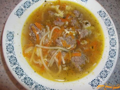 Как приготовить суп с вермишелью видео
