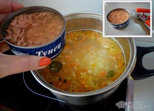 Рецепт суп с тунцом консервированным рецепт с пошаговым