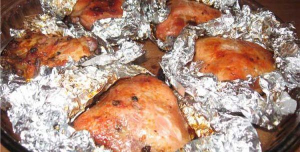Куры в фольге в духовке рецепт 178