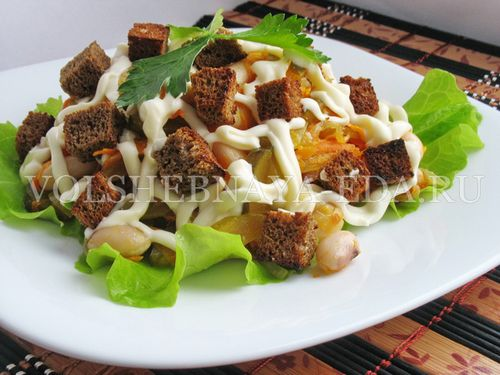 Фасолевый салат рецепт классический