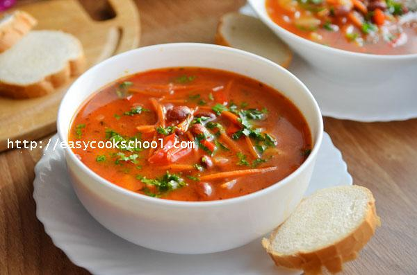 Суп из консервированной фасоли рецепт пошагово