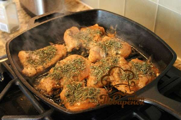 Рецепт жареной курицы филе на сковороде пошагово