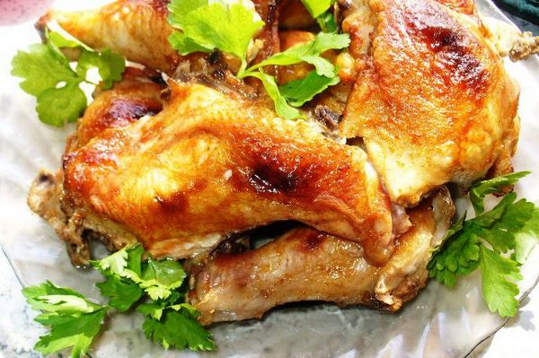 Приготовить курицу кусками в духовке