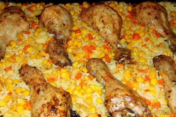 просто поверь, рис в духовке с оващами и курицей дорожного движения