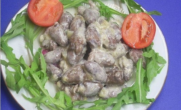 Рецепты сердца куриного в сметане