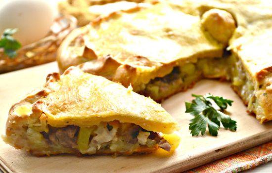 31Курник с курицей и картошкой на дрожжевом тесте рецепт с пошагово