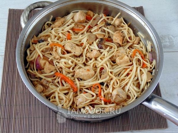 Рецепты японской лапши с пошагово