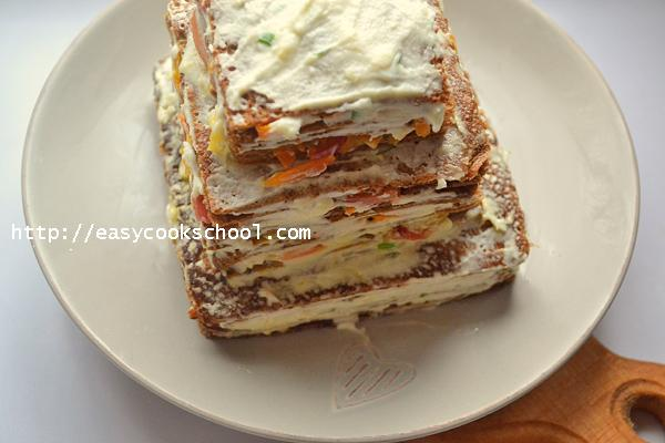 Печеночный торт с вареной печенью рецепт с пошагово