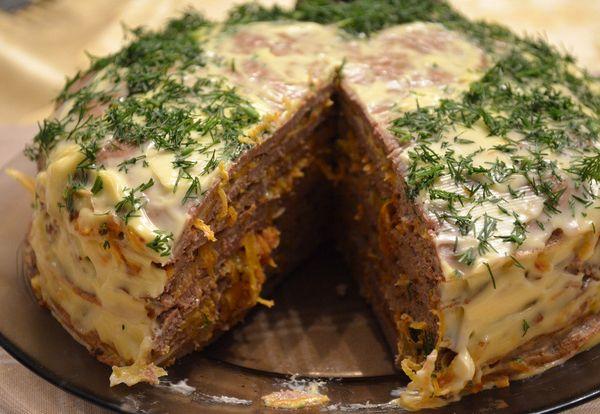 Печёночный торт из куриной печени рецепты