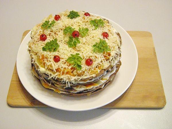 Печеночный торт с сыром рецепт пошагово с в