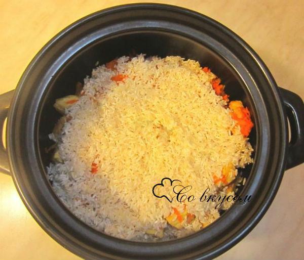 плов с курицей рецепт с фото пошагово в духовке