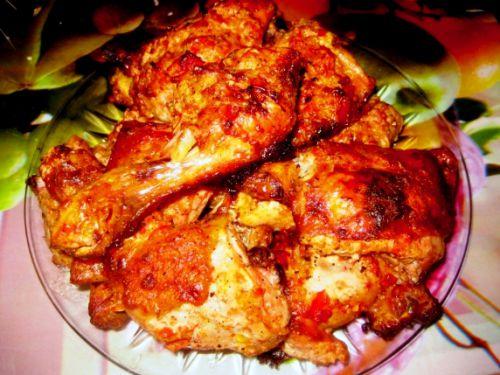 Куриные бедра с грибами и сыром в духовке рецепт пошагово