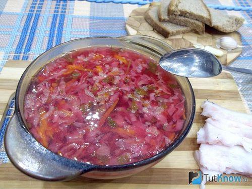 рецепт борща со свеклой и капустой пошаговый рецепт с мясом свинины
