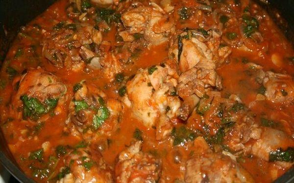 Чахохбили из курицы рецепт в духовке рецепт пошагово в