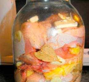 Курица в банке с овощами в духовке рецепт с пошаговый