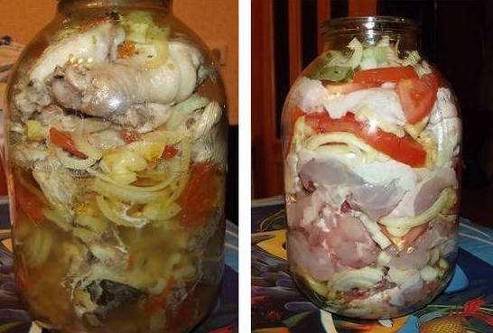 Курица в банке в собственном соку в духовке рецепт с пошагово