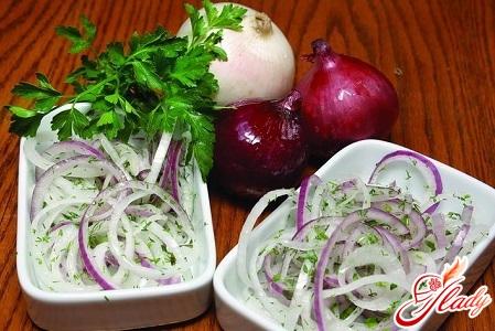 луковый салат рецепт