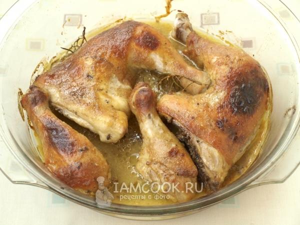 Курица в медовом соусе с картошкой в духовке рецепт