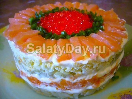 салат царский рецепт с горбушей