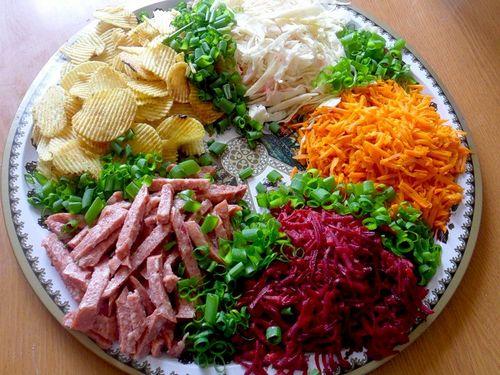 Салат ералаш с корейской морковью