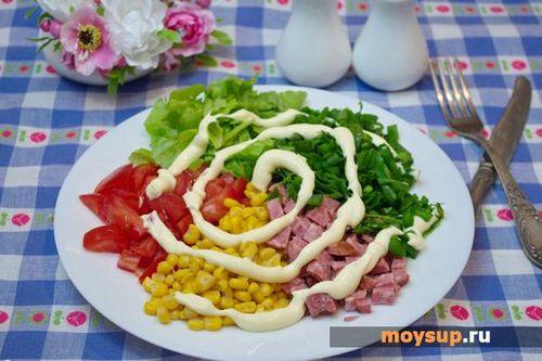 салат мозаика рецепт с капустой