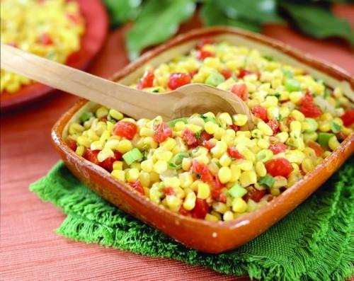 салат с кукурузой маринованной