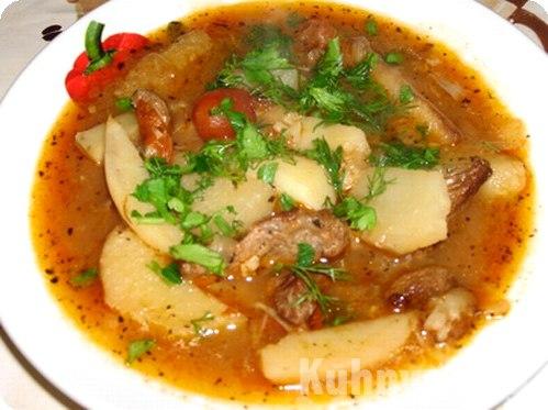 Суп из картошки и мяса рецепт с пошагово
