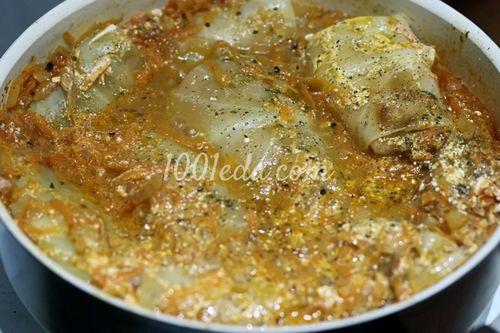 Голубцы в мультиварке в томатно-сметанном соусе рецепт с пошаговым фото