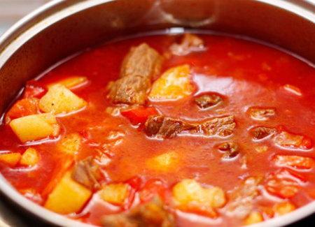 вкусный гуляш из свинины рецепт с фото пошагово