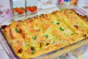Каннеллони с фаршем рецепт с пошагово с соусом бешамель рецепт