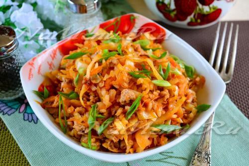 фарш рис морковь капуста. рецепт
