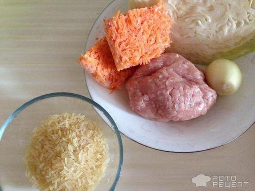 что приготовить фарш капуста рис