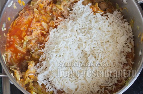 Голубцы ленивые рецепт с рисом в мультиварке рецепт с пошагово