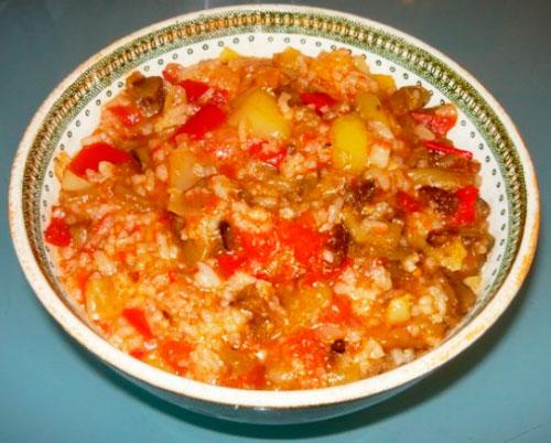 Рис с овощным рагу
