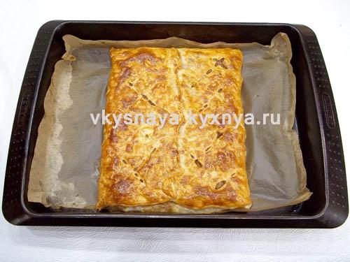 мясной пирог в мультиварке поларис из готового теста Thermo-Soft рассчитано для