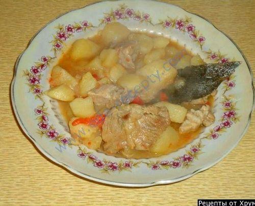 Тушеная свинина с картошкой в кастрюле рецепт с пошагово